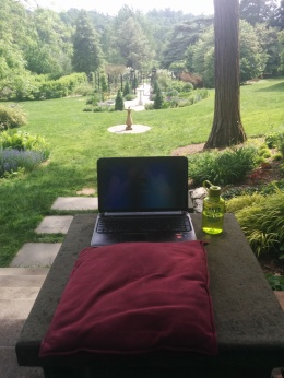I chose a stunning perspective for my final writing spot of the day.