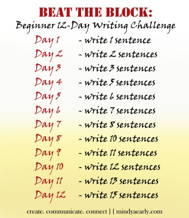 12 Day Writing Challenge